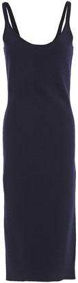 Roland Mouret Ribbed And Stretch-knit Midi Dress