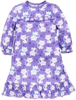 Little Me Little Girls Kitty Cat Long Sleeve Nightgown Sleepwear 4 Toddler