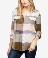 Lucky Brand Plaid Roll-Tab-Sleeve Shirt