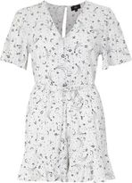 River Island Womens Cream zodiac print tea dress style romper