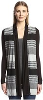 Three Dots Women's Striped Cardigan