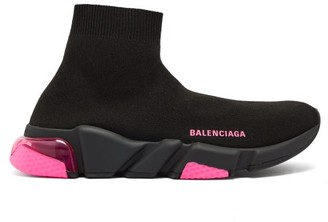 Balenciaga Speed Bubble-heel High-top Sock Trainers - Black Pink