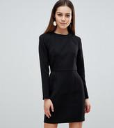 Asos DESIGN Petite shoulder pad mini dress with seams
