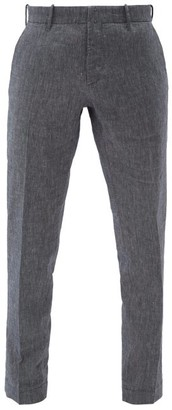 Incotex Verve Slim-leg Cotton-blend Chambray Trousers - Mens - Denim