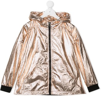 Andorine Metallized Hooded Jacket