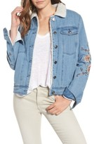 Cupcakes And Cashmere Women's Cupcakes & Cashmere Bronx Embroidered Denim Jacket