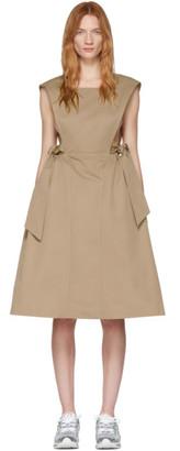 pushBUTTON Tan Side Ribbon Dress
