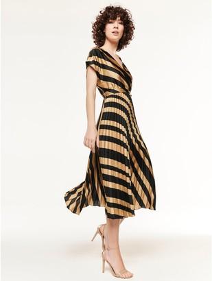 M&Co Pleated midi dress