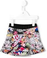 Kenzo cartoon print skirt