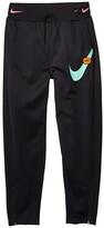 Nike NSW Pants Just Do It (Little Kids/Big Kids) (Black/Magic Flamingo/Emerald Rise) Girl's Casual Pants
