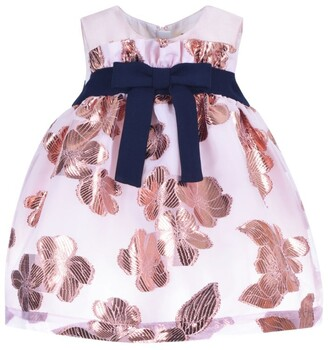 Hucklebones London Floral Paperbag Trapeze Dress And Bloomers Set (3-18 Months)