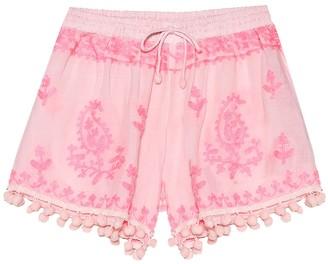 Melissa Odabash Kids Embroidered rayon shorts
