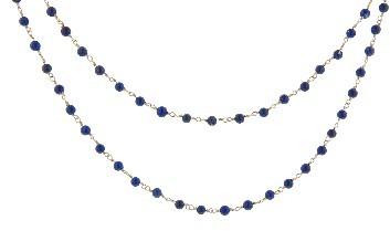 Lapis 23 Collection Fine Bead Chain - 40'' - 14 Karat Yellow Gold
