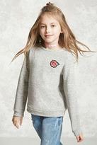Forever 21 Girls Rose Patch Sweatshirt (Kids)