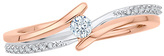 Zales 1/6 CT. T.W. Diamond Bypass Promise Ring in 10K Two-Tone Gold