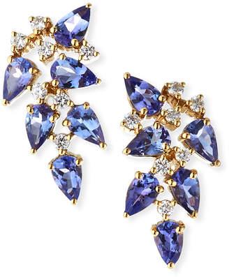 Mila Louise Ayva Jewelry 18k Tanzanite/Diamond Earrings