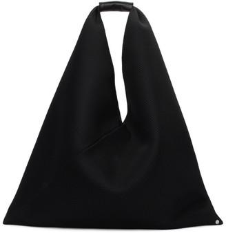 MM6 MAISON MARGIELA Black Large Mesh Triangle Tote