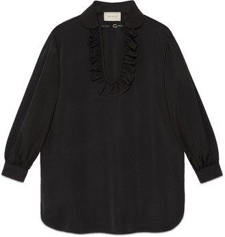 Gucci Silk viscose faille maxi shirt