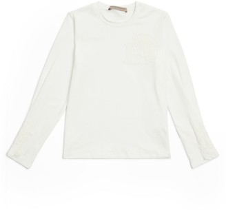 Ermanno Scervino Lace-Detail Logo T-Shirt (6-14 Years)