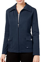 Karen Scott Petite Zip-Up Jacket