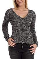 Timezone Women's V-Neck Long Sleeve Cardigan - Multicoloured -