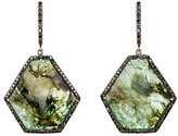 Monique Péan Women's Pavé Black Diamond & Emerald Slice Earrings