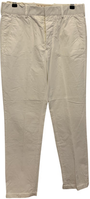 Marni White Cloth Trousers
