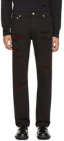 Alexander McQueen Black Shredded Jeans