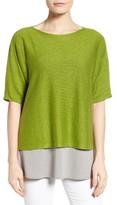 Eileen Fisher Women's Organic Linen Boxy Sweater