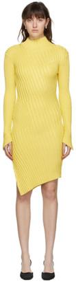 Coperni Yellow Viscose Mix Motion Dress