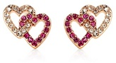 Juicy Couture Pave Double Heart Stud Earrings