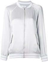 Equipment embroidered bomber jacket - women - Silk - S