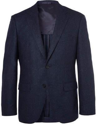 HUGO BOSS Navy Jestor Melange Virgin Wool-Blend Tweed Suit Jacket