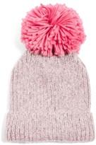 Topshop Women's Pompom Beanie - Pink