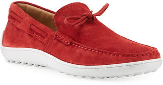 Tod's Men's Suede Slip-On Boat Shoes