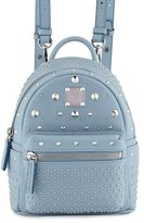 MCM Stark Special Bebe Boo Leather Backpack, Sky Blue