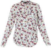 Isabel Marant rusak Ecru Flower Print Shirt