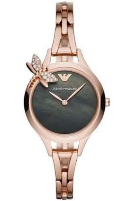 Emporio Armani Women's Aurora Quartz Watch with Stainless-Steel-Plated Strap