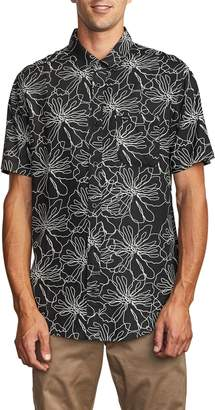 RVCA Blind Floral Short Sleeve Button-Up Shirt