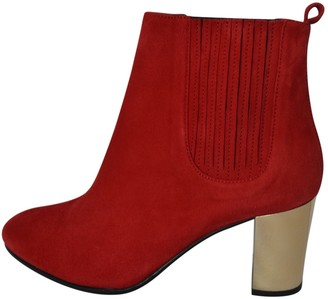 Opening Ceremony Red Leather Ankle boots