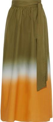 Iris & Ink Bryn Degrade Cotton-broadcloth Maxi Wrap Skirt