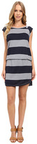 Allen Allen Stripe Short Sleeve Raglan Dress