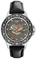 Bulova 76L165 Timepieces Women's Quartz Analog Watch with Black Dial and Leather Strap