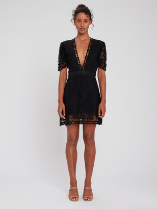 LoveShackFancy Daniela Lace Mini Dress