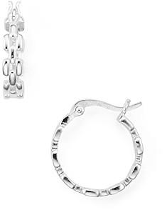 Aqua Chain-Effect Sterling Silver Hoop Earrings - 100% Exclusive