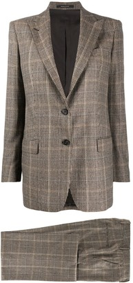 Tagliatore Houndstooth Check Formal Suit