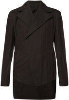 Julius broad lapel asymmetric blazer - men - Cotton/Nylon - 3