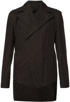 Julius broad lapel asymmetric blazer