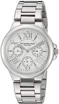Stuhrling Original Symphony Regent Lady Pontiff Women's Quartz Watch with White Dial Analogue Display and Silver Stainless Steel Bracelet 367.01