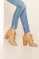 Forever 21 FOREVER 21+ Faux Leather Lace-Up Booties